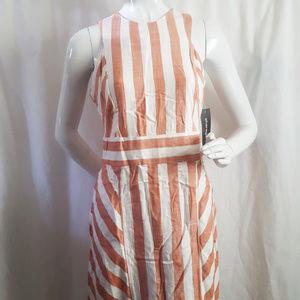 Sharagano Multicolor Striped Sleeveless Dress 4